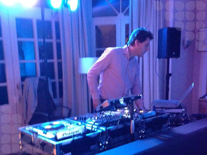 DJ Olivier in actie